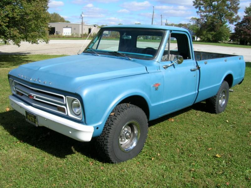 1967 K10 Custom 1 2 Ton 4x4 Long Bed Blue Chevy 67