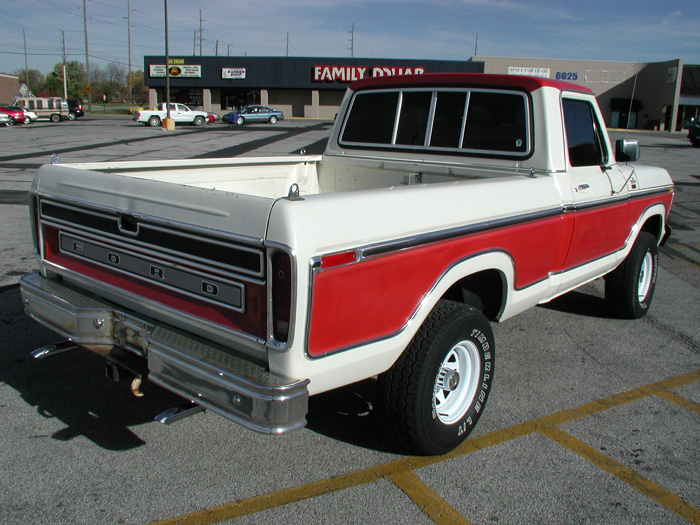1978 f150 swb lariat red and white. Black Bedroom Furniture Sets. Home Design Ideas